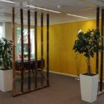 In het kantoorpand zijn enkele sociale ruimtes ingericht voor wat ontspanning indien gewenst.