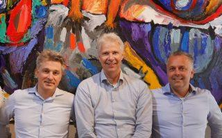 Foto van het team Bresson van Kempen Bedrijfshuisvesting v.l.n.r. Hampy Bresson, Rene van Kempen en Frans Huijbregts